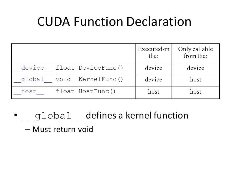 CUDA Function Declaration