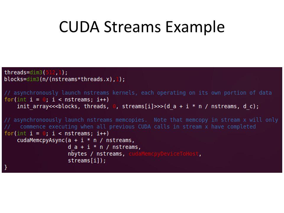 CUDA Streams Example