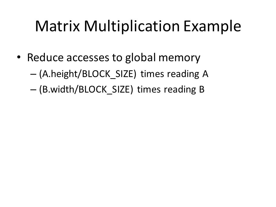 Matrix Multiplication Example