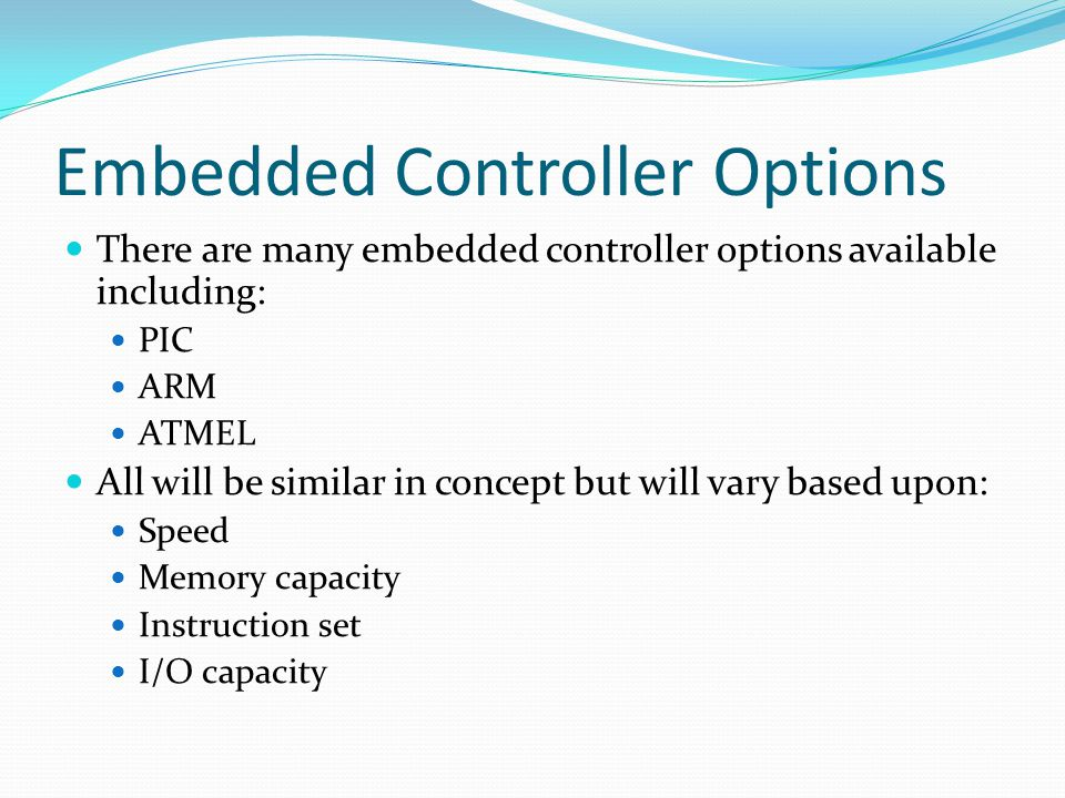 Embedded Controller Options