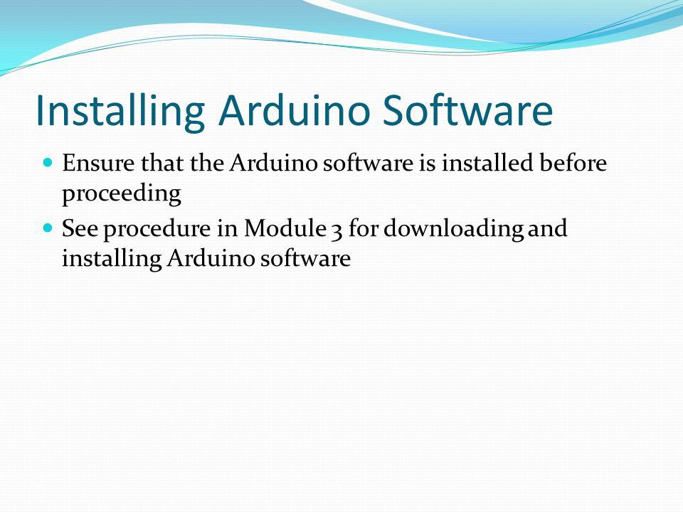 Installing Arduino Software