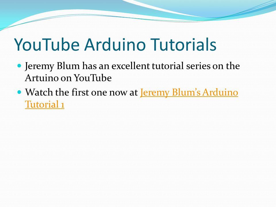 YouTube Arduino Tutorials