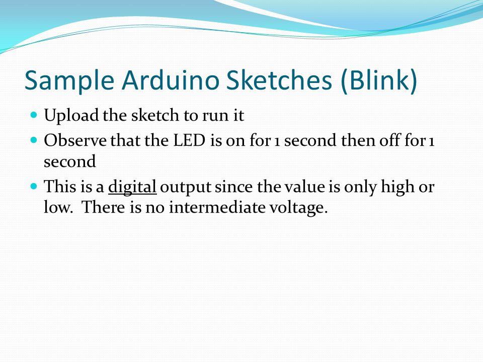 Sample Arduino Sketches (Blink)