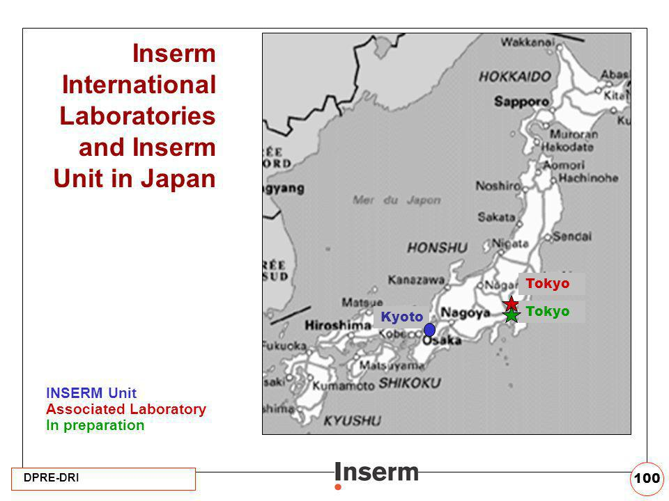 Inserm International Laboratories and Inserm Unit in Japan