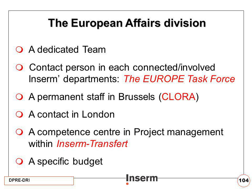 The European Affairs division