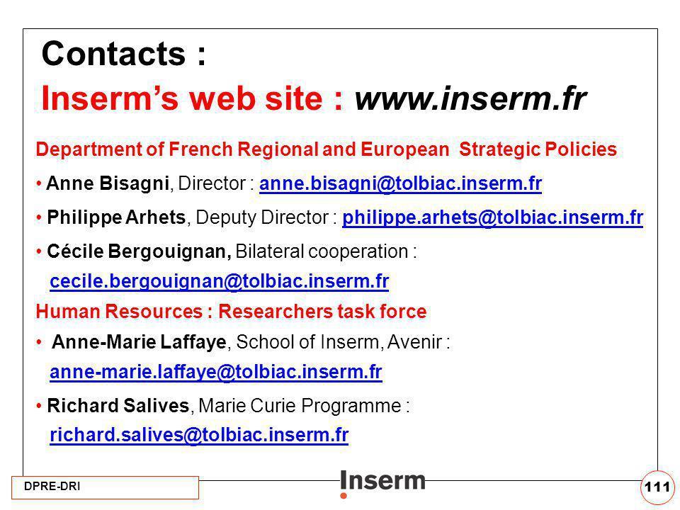 Inserm's web site : www.inserm.fr