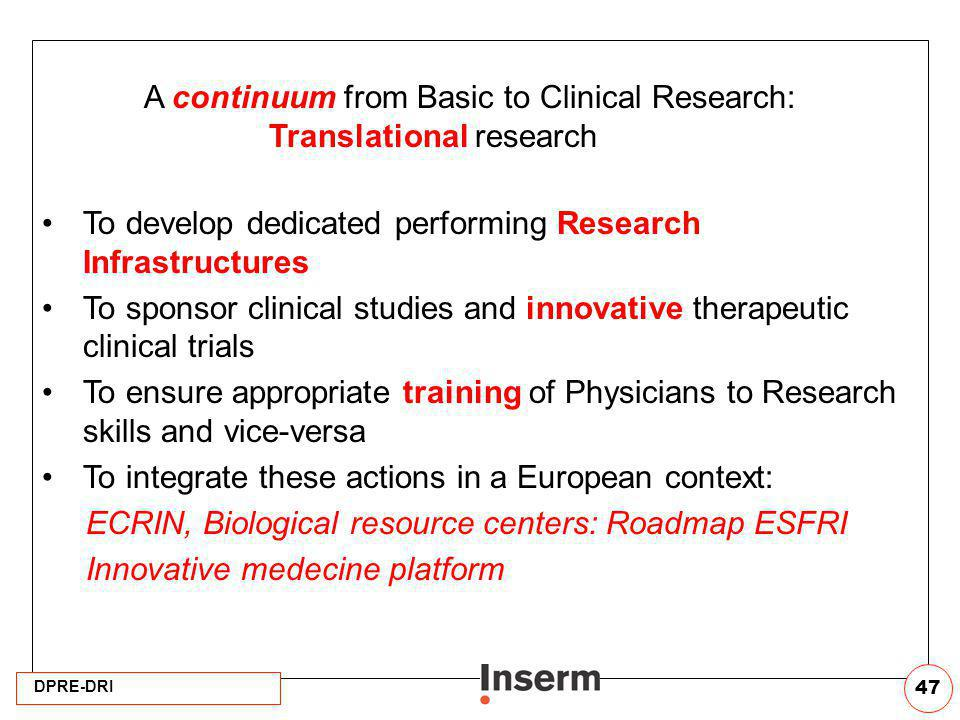 A continuum from Basic to Clinical Research: