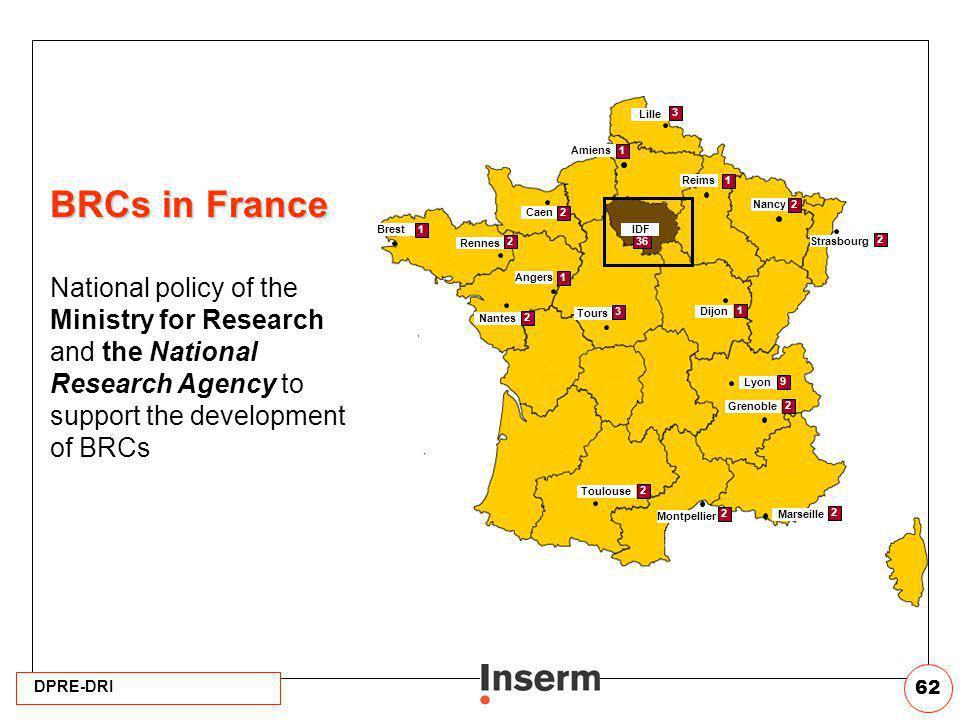 Lille Caen. Rennes. Nantes. Tours. Nancy. Strasbourg. Lyon. Montpellier. Marseille. 3. 2.