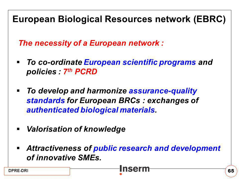 European Biological Resources network (EBRC)