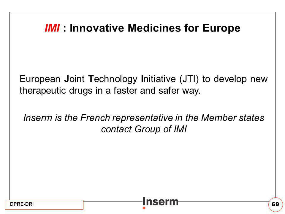 IMI : Innovative Medicines for Europe