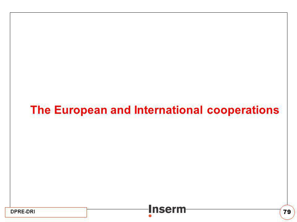 The European and International cooperations