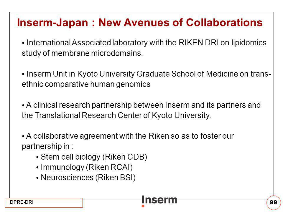 Inserm-Japan : New Avenues of Collaborations
