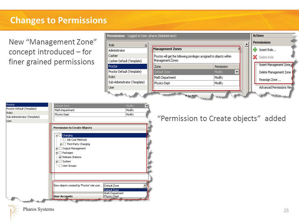 Changes to Permissions