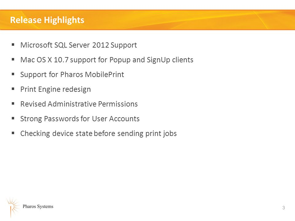 Release Highlights Microsoft SQL Server 2012 Support