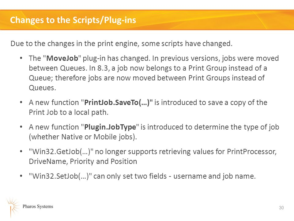Changes to the Scripts/Plug-ins