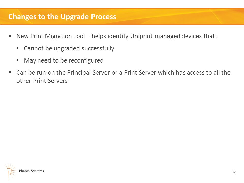 Changes to the Upgrade Process
