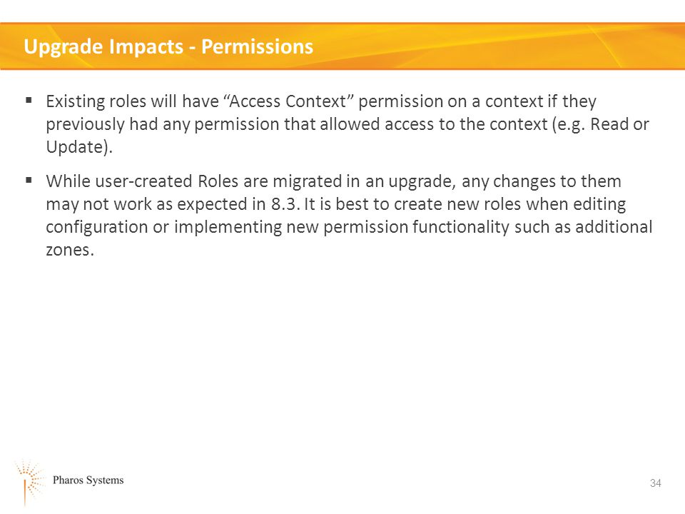 Upgrade Impacts - Permissions
