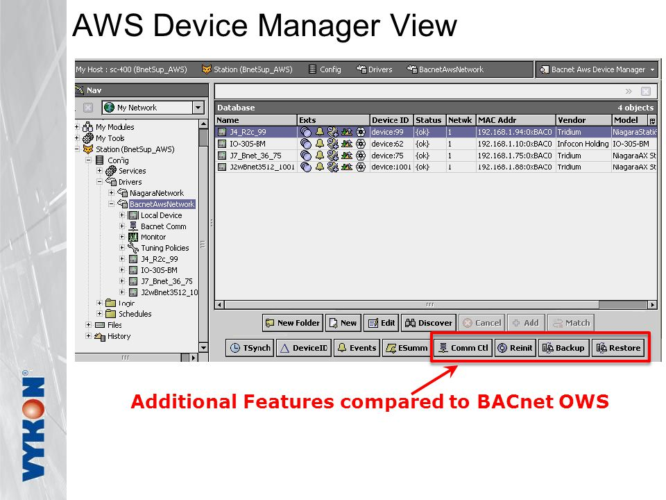 AWS Device Manager View