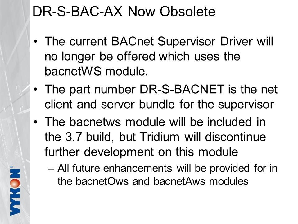 DR-S-BAC-AX Now Obsolete