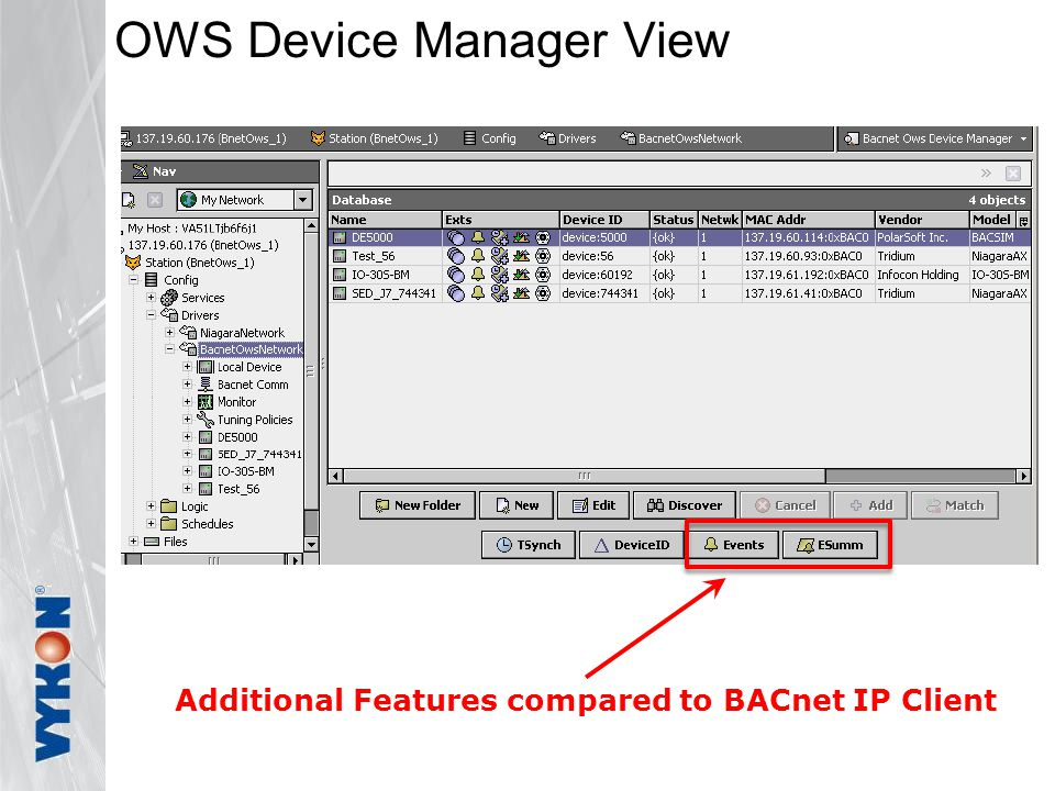 OWS Device Manager View