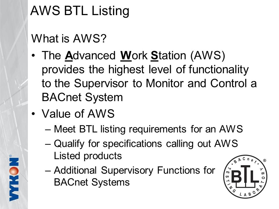 AWS BTL Listing What is AWS