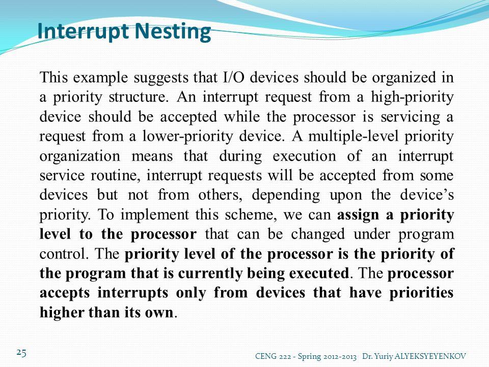 Interrupt Nesting