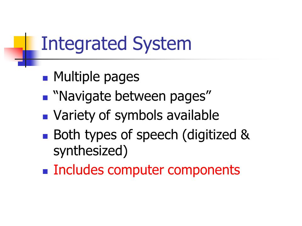Integrated System Multiple pages Navigate between pages