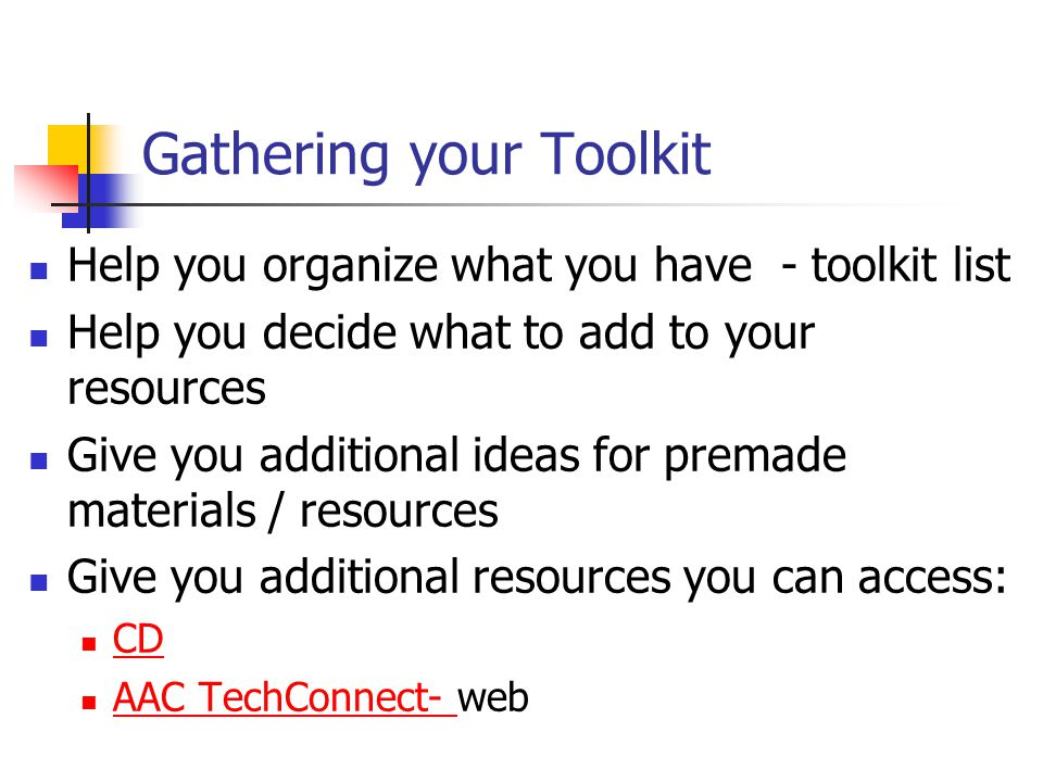 Gathering your Toolkit