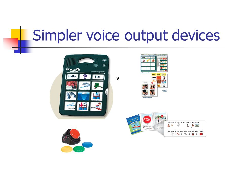 Simpler voice output devices