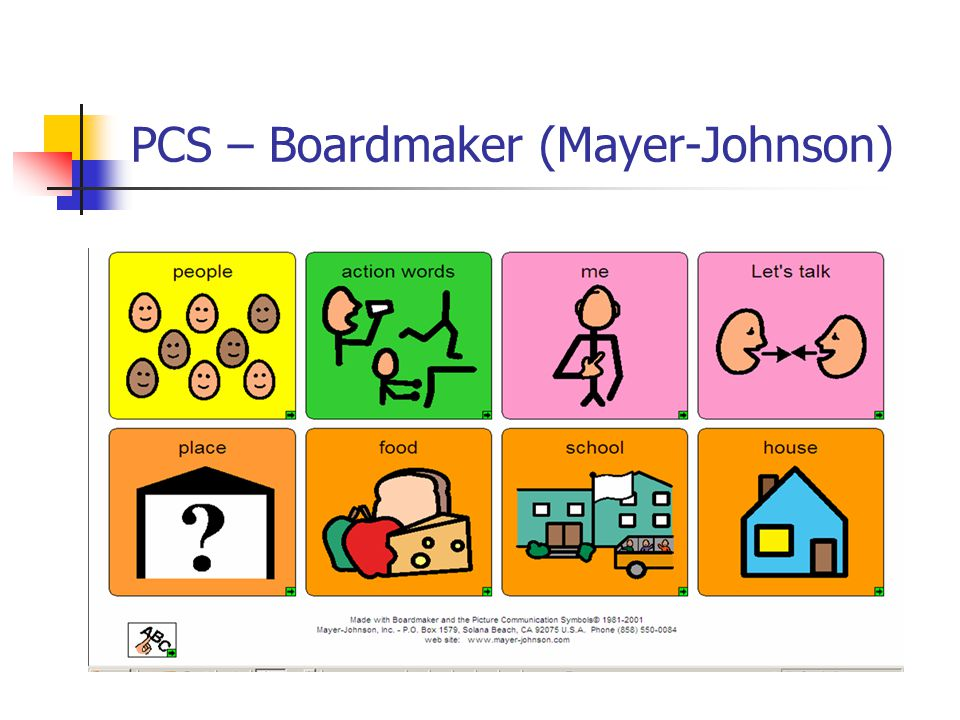 PCS – Boardmaker (Mayer-Johnson)