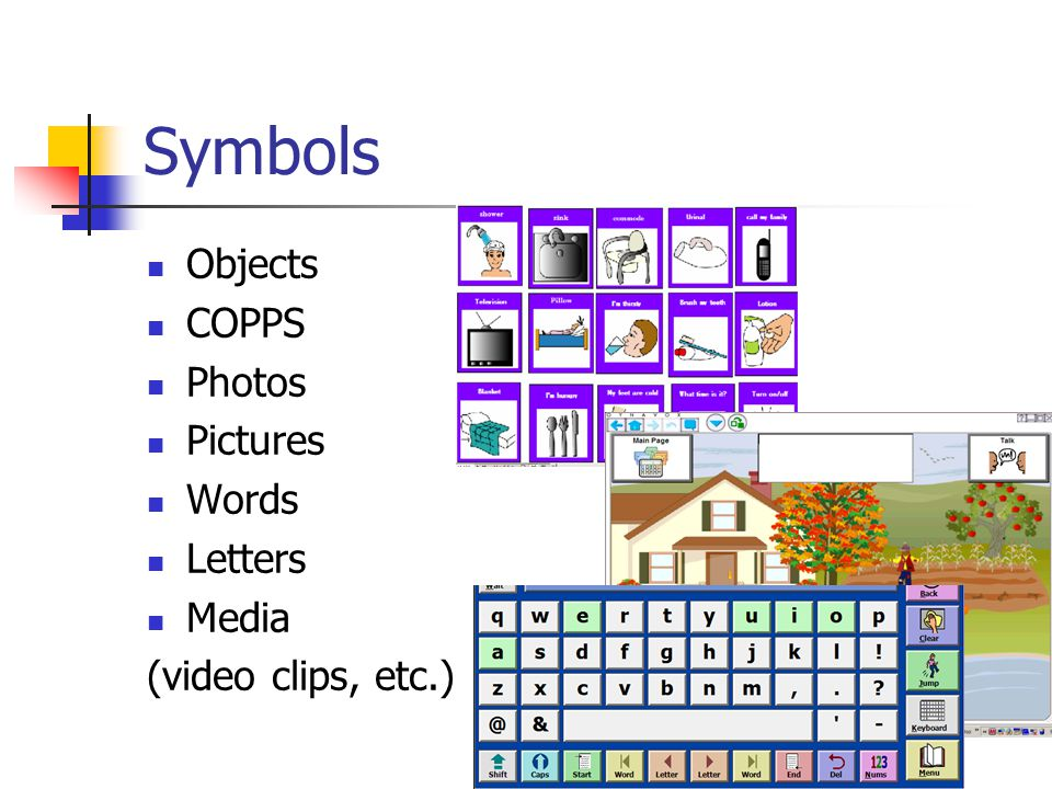 Symbols Objects COPPS Photos Pictures Words Letters Media