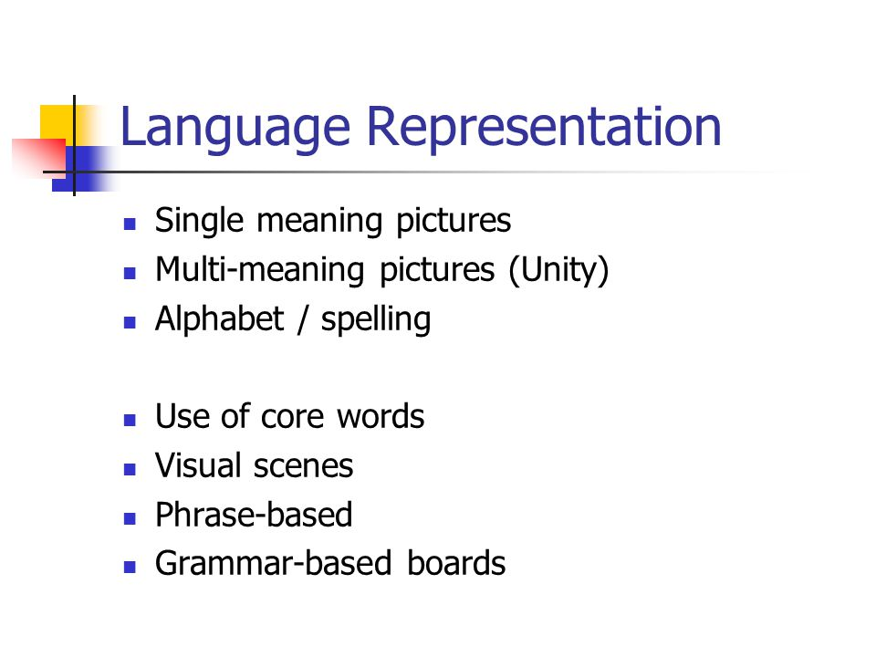 Language Representation