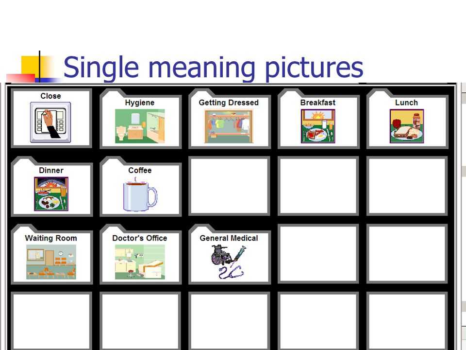 Single meaning pictures