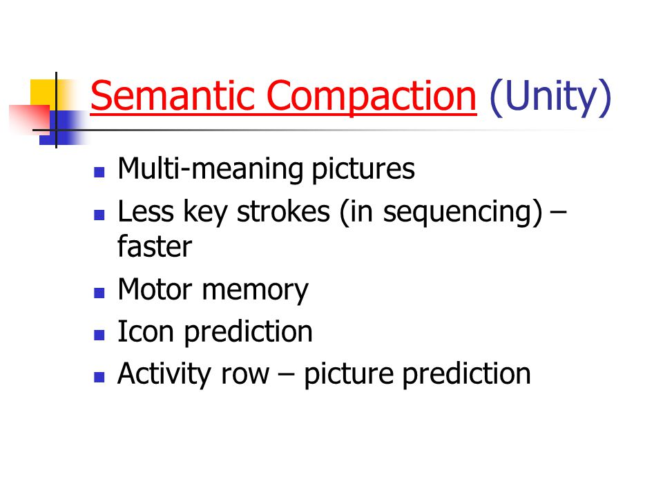 Semantic Compaction (Unity)