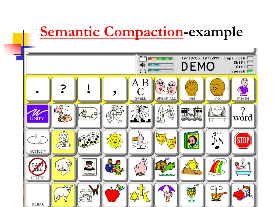 Semantic Compaction-example
