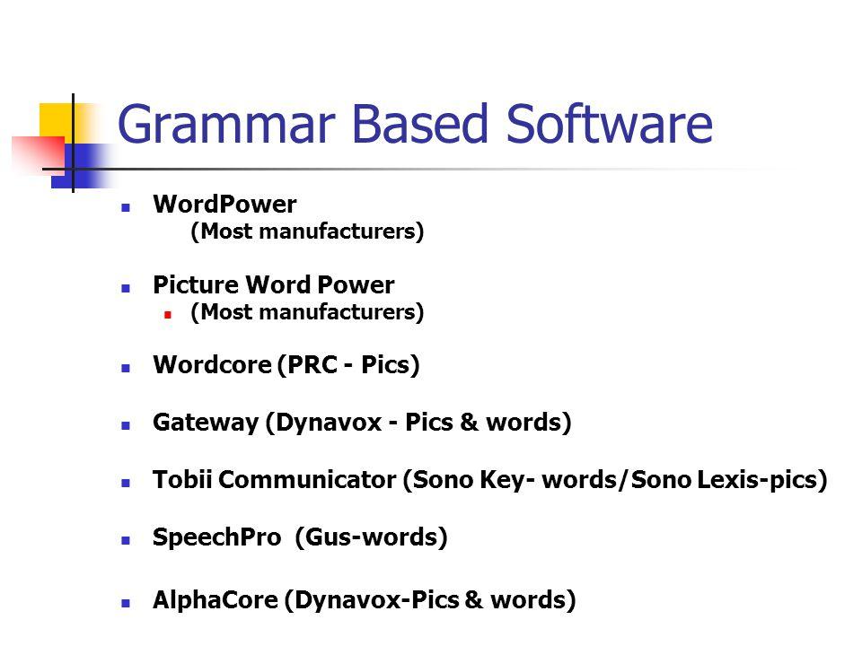 Grammar Based Software