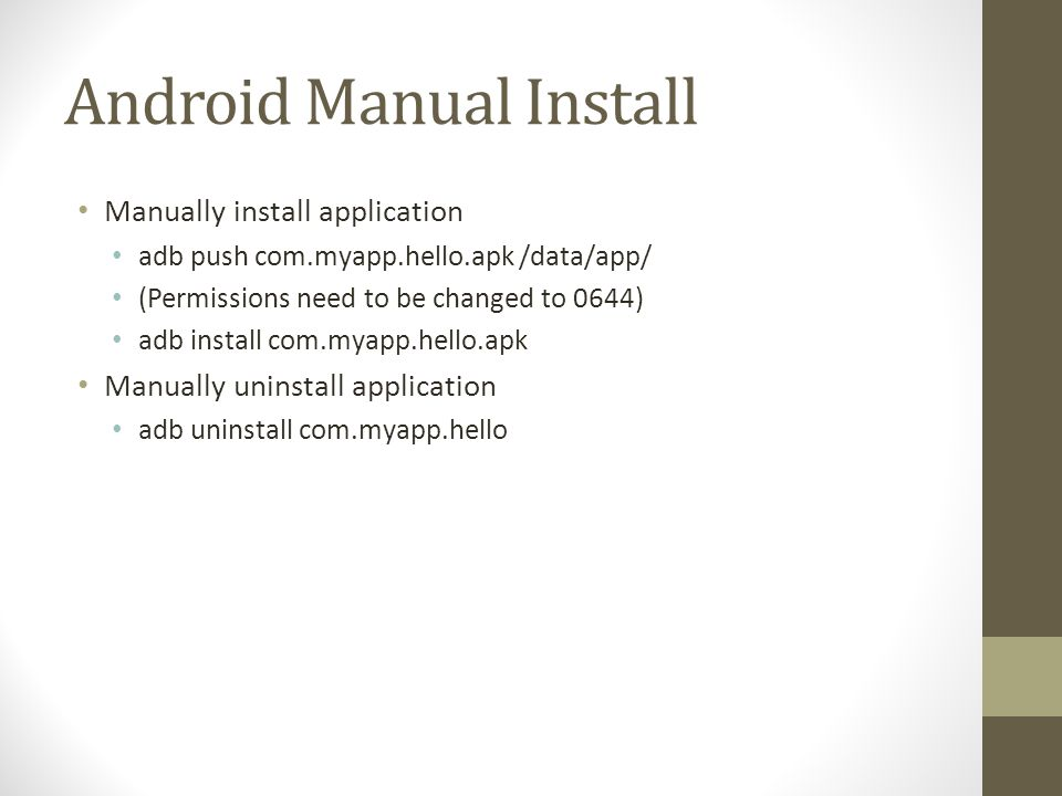 Android Manual Install