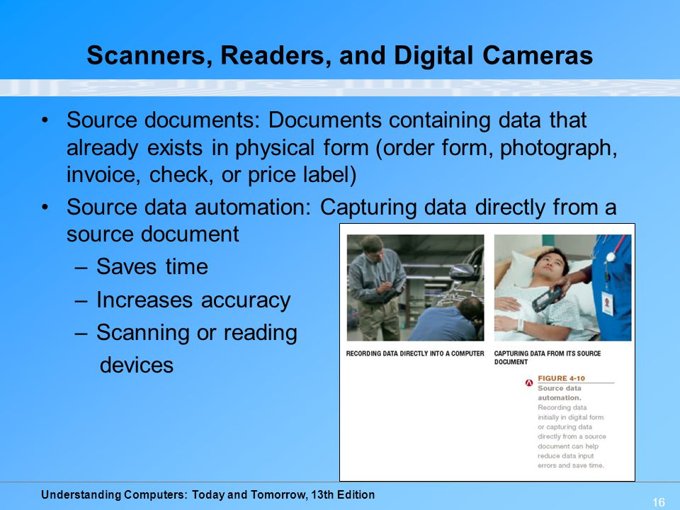 Scanners, Readers, and Digital Cameras
