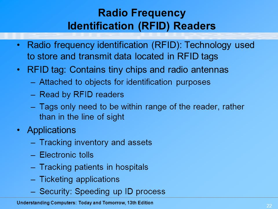 Radio Frequency Identification (RFID) Readers