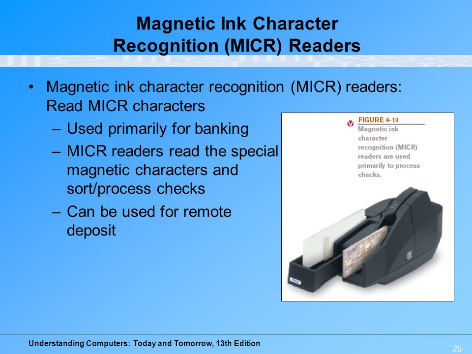 Magnetic Ink Character Recognition (MICR) Readers