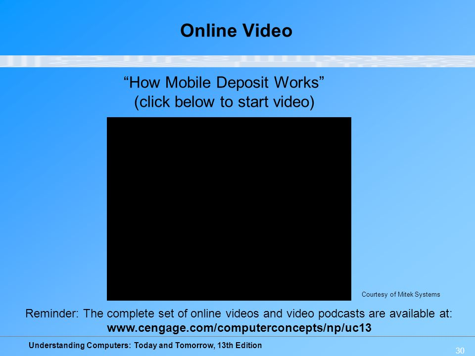 Online Video How Mobile Deposit Works (click below to start video)