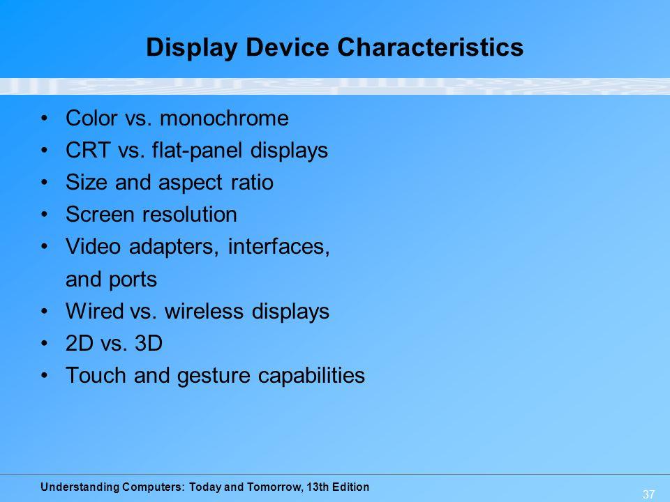 Display Device Characteristics