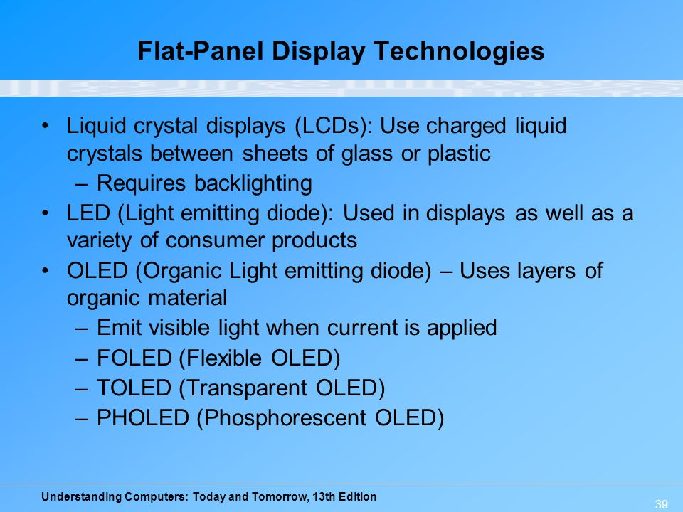 Flat-Panel Display Technologies