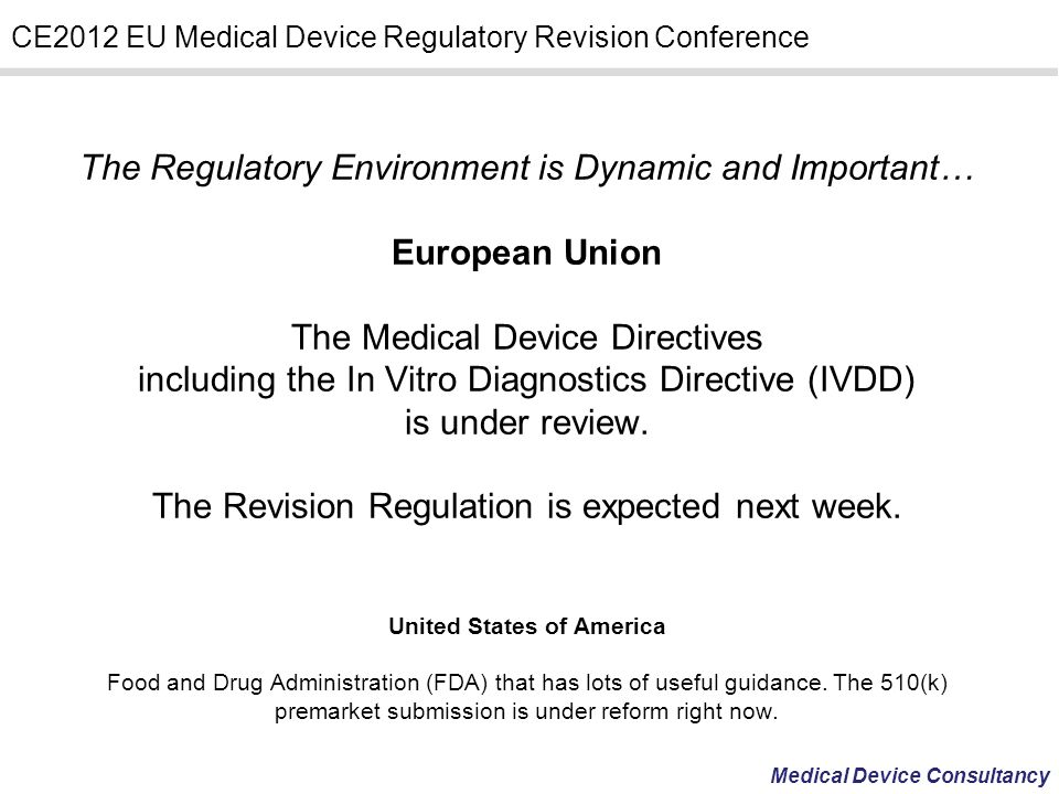 The Revision Regulation is expected next week.