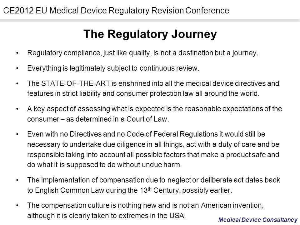 The Regulatory Journey