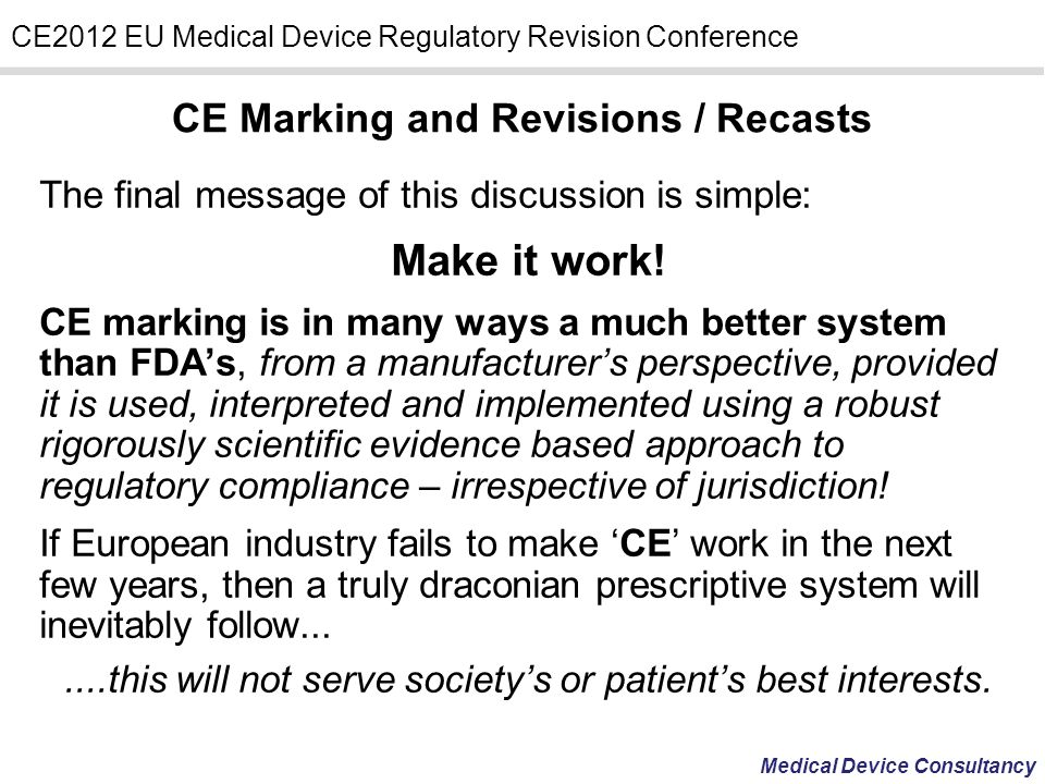 CE Marking and Revisions / Recasts
