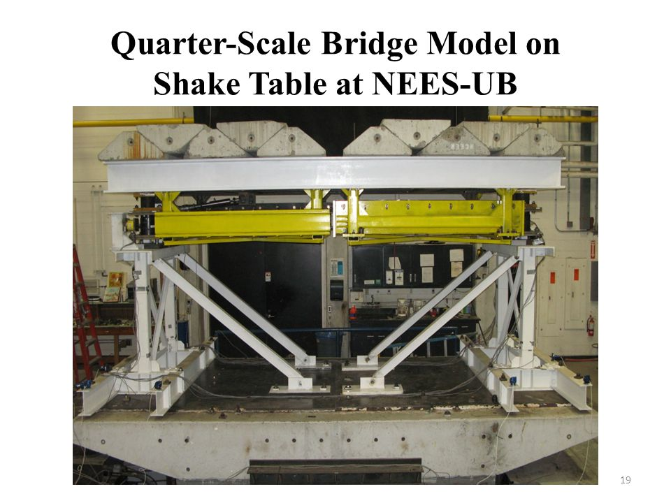 Quarter-Scale Bridge Model on Shake Table at NEES-UB