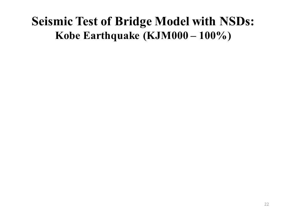 Seismic Test of Bridge Model with NSDs: Kobe Earthquake (KJM000 – 100%)