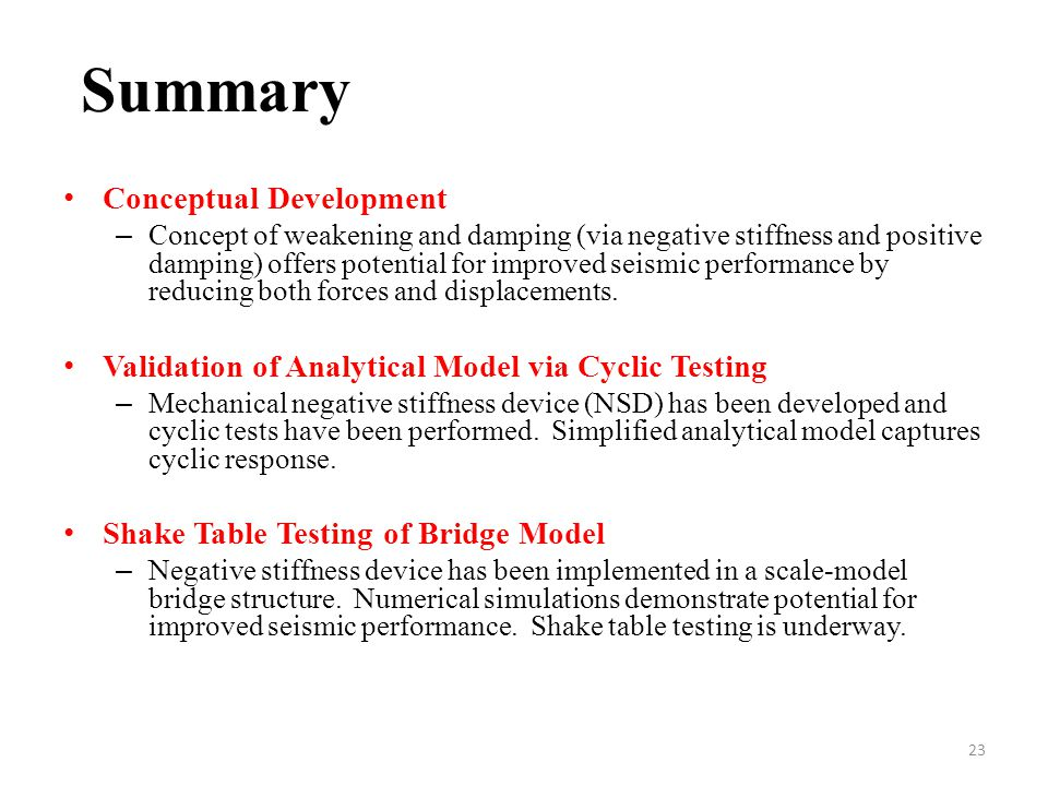 Summary Conceptual Development