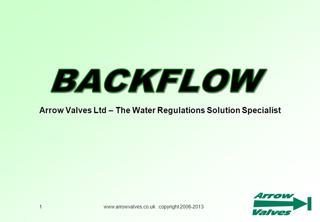 Arrow Valves Ltd – The Water Regulations Solution Specialist